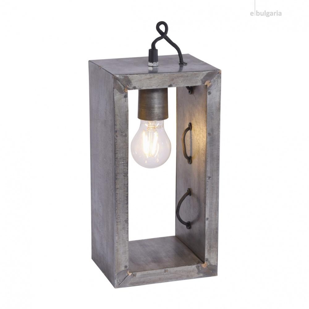 настолна лампа samia, grey, 1xE27, leuchtendirekt, 11505-77