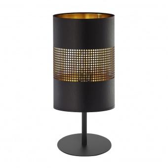 настолна лампа bogart black, black+gold, 1xE27, tk lighting, 5058
