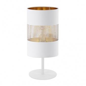 настолна лампа bogart black, black+gold, 1xE27, tk lighting, 5059