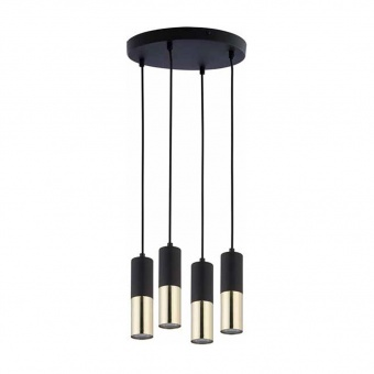 полилей elit black, black+gold, 4xGU10, tk lighting, 4364
