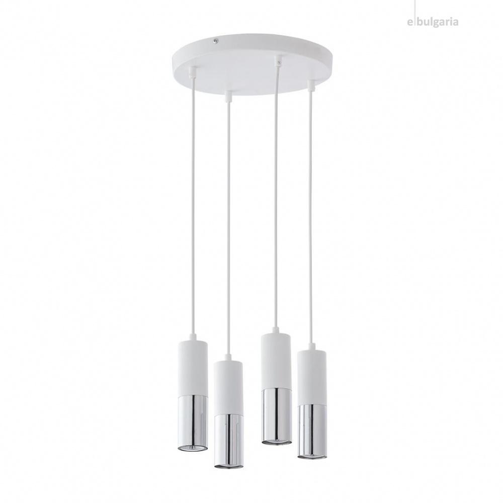 полилей elit white, white+silver, 4xGU10, tk lighting, 4354