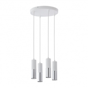 полилей elit white, white+silver, 4xGU10, tk lighting, 4354