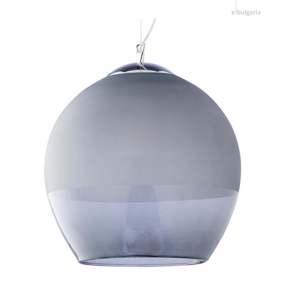 пендел boulette, chrome/grey, 1xe27, tk lighting, 3344