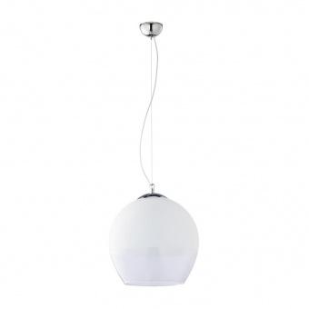 пендел boulette, chrome/white, 1xe27, tk lighting, 3343