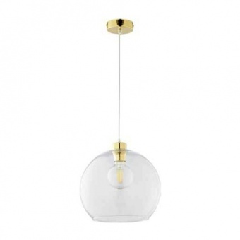 пендел cubus, gold/transparent, 1xE27, tk lighting, 2742