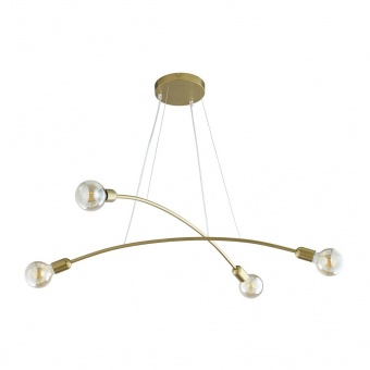 полилей helix gold, gold, 4xe27, tk lighting, 2727