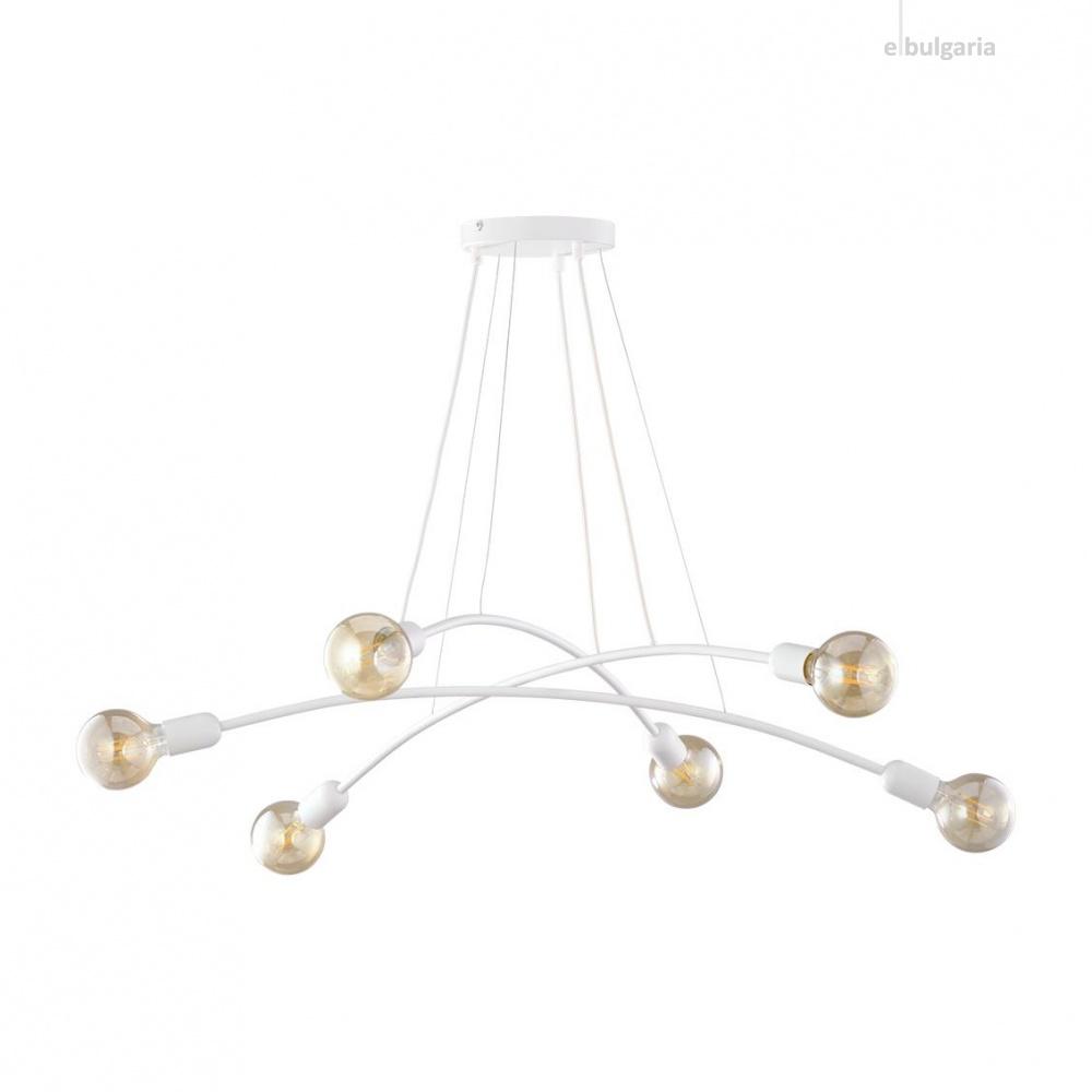 полилей helix, white, 6xe27, tk lighting, 6144