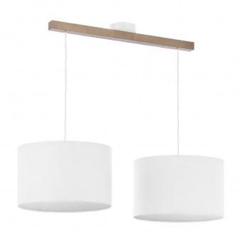 полилей troy white, white/natural, 2xe27, tk lighting, 3373