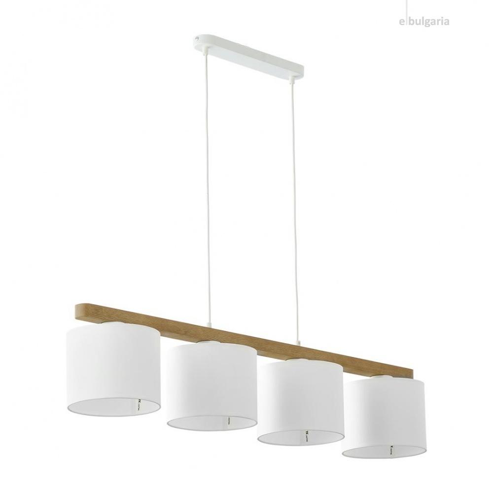 полилей troy white, white/natural, 4xe27, tk lighting, 3270