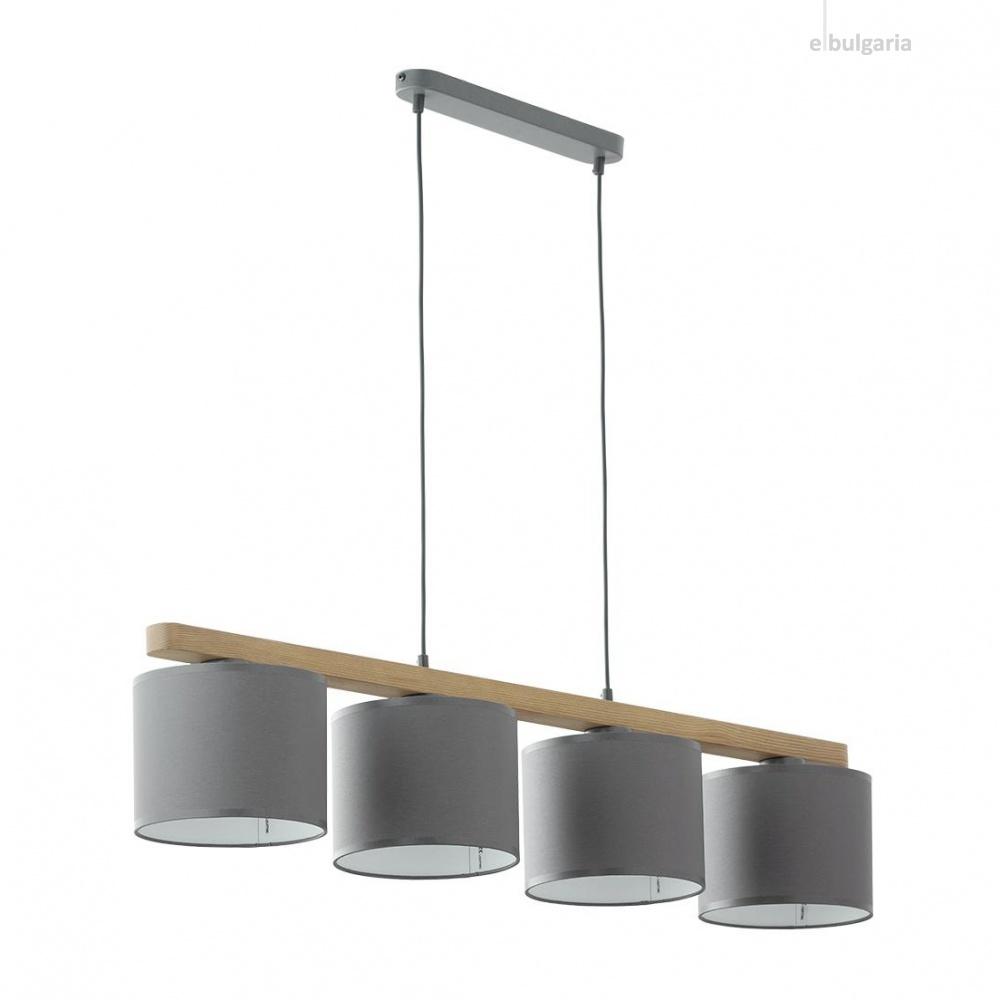 полилей troy gray, graphite/natural, 4xe27, tk lighting, 3271