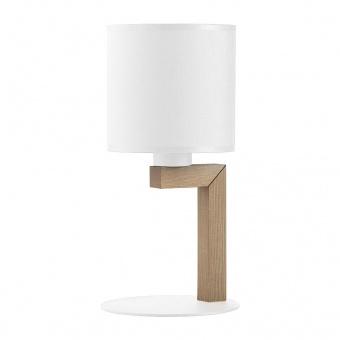 настолна лампа troy white, white/natural, 1xe27, tk lighting, 5198