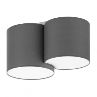 плафон mona gray, gray, 2xe27, tk lighting, 4391
