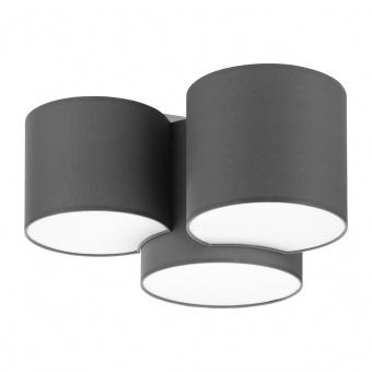 плафон mona gray, gray, 3xe27, tk lighting, 4392