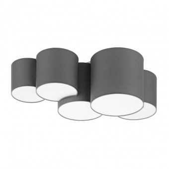 плафон mona gray, gray, 5xe27, tk lighting, 4394