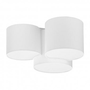 плафон mona white, white, 3xe27, tk lighting, 3441