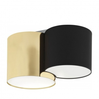 плафон mona gold, black/gold, 2xe27, tk lighting, 3444