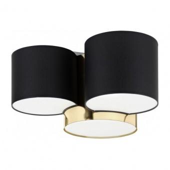 плафон mona gold, black/gold, 3xe27, tk lighting, 3445