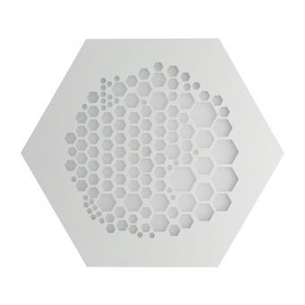 плафон alveare, matt white, led 46w, 3000k, 4600lm, ondaluce, pl.alveare/gr