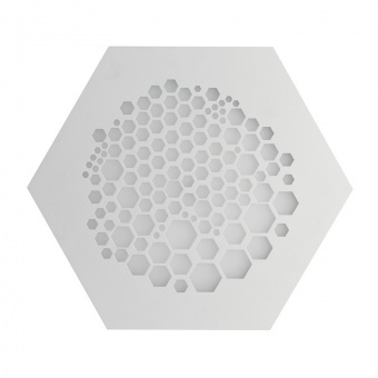 плафон alveare, matt white, led 33w, 3000k, 3300lm, ondaluce, pl.alveare/md