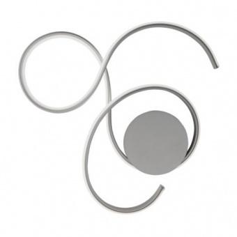 плафон twist, silver, led 41w, 3000k, 4100lm, ondaluce, pl.twist/silver_pc