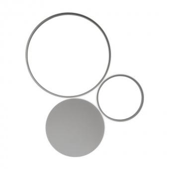плафон pois, silver, led 42w, 3000k, 4200lm, ondaluce, pl.pois/silver-pc