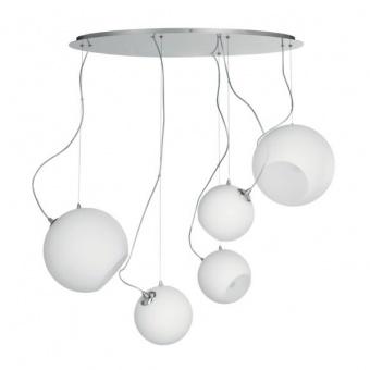 полилей lampara, white, 5xE27, ondaluce, so.lampara/5l-bca