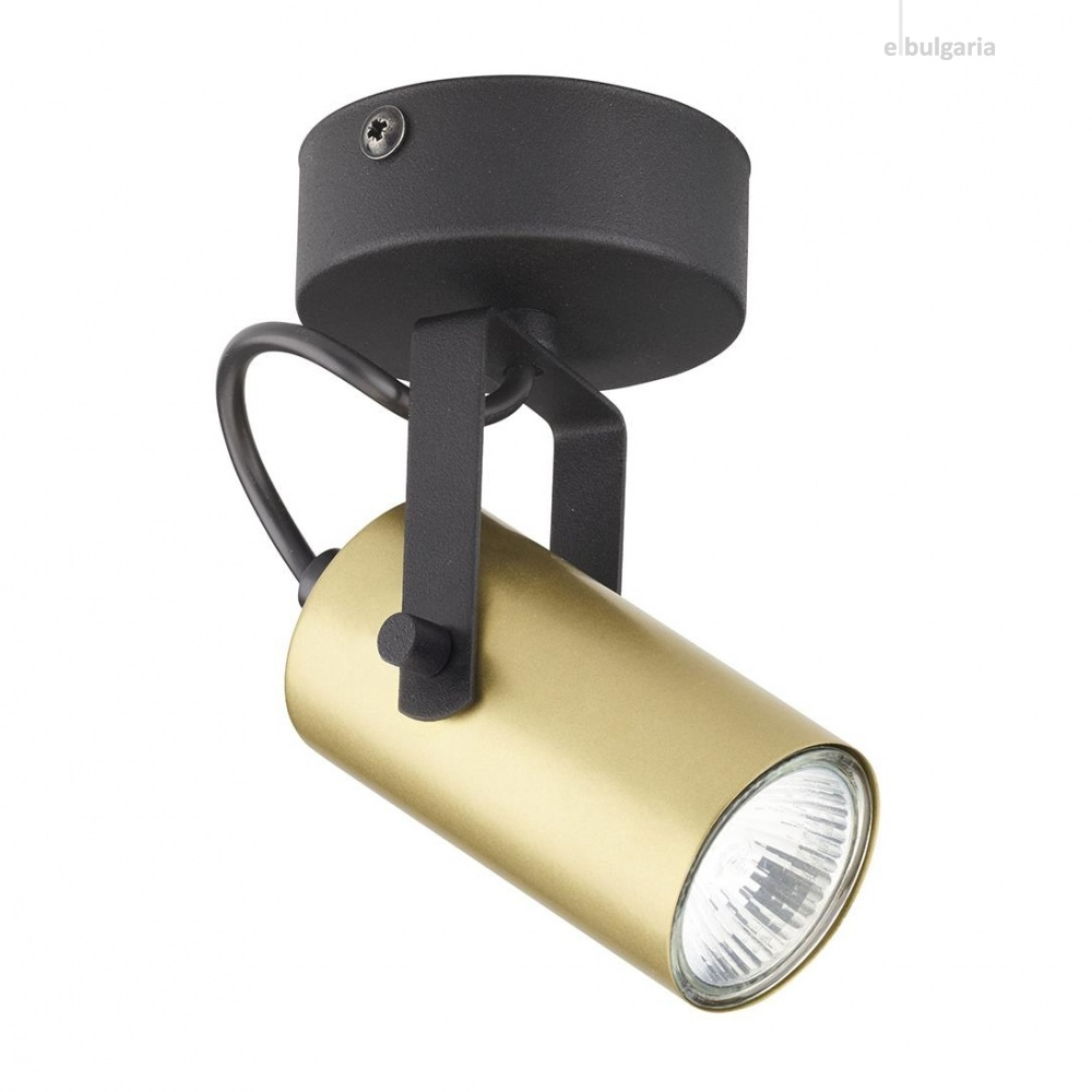 спот redo, black/gold, 1xGU10, tk lighting, 2793