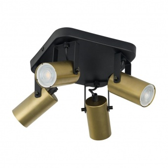 спот redo, black/gold, 4xGU10, tk lighting, 2821