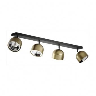 спот altea, black/gold, 4xGU10 AR111, tk lighting, 3427