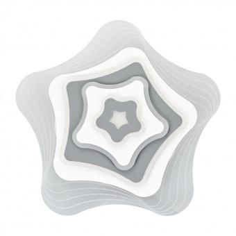 плафон lily, бял, elbulgaria, led 98w, 3000k-4000k-6000k, 2288