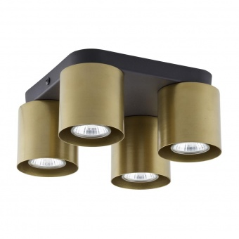 плафон vico, black/gold, tk lighting, 4xgu10, 6511