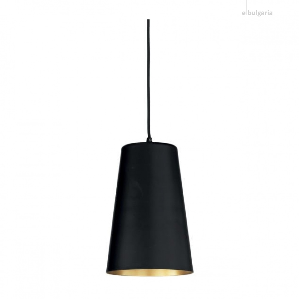 пендел pail, black/gold, ondaluce, 1xE27, so.pail/20-nera
