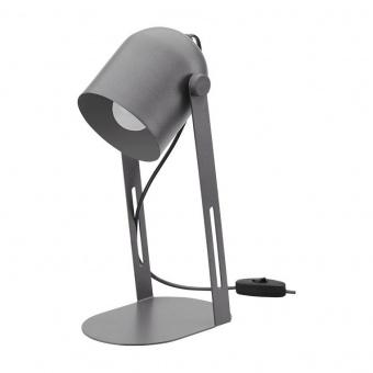 настолна лампа davis, grey, tk lighting, 1xe27, 5190