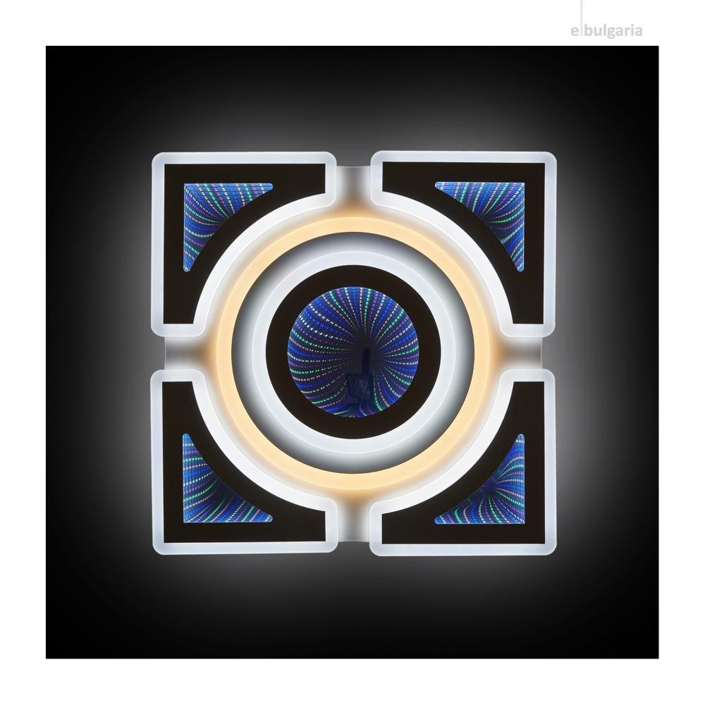 плафон Lilium, бял, elbulgaria, led 98w, 3000k-4000k-6000k, 2300