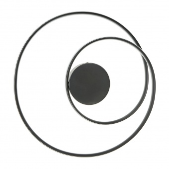 плафон Finley, черен, elbulgaria, led 59w, 3000k-4000k-6000k, 2295 bk