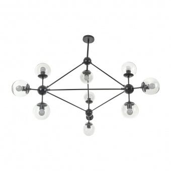 Полилей Molecule, черен, elbulgaria, 10xe27, 2322/10 bk