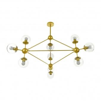 Полилей Molecule, злато, elbulgaria, 10xe27, 2322/10 gd