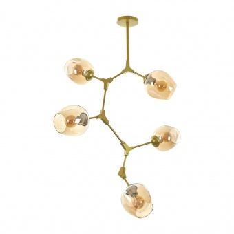 Полилей DNA, злато, elbulgaria, 5xe27, 2324/5 gd