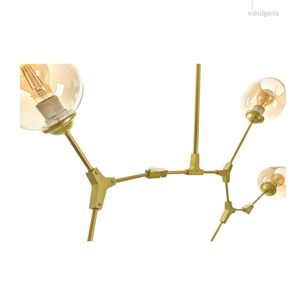 Полилей DNA, злато, elbulgaria, 5xe27, 2325/5 gd