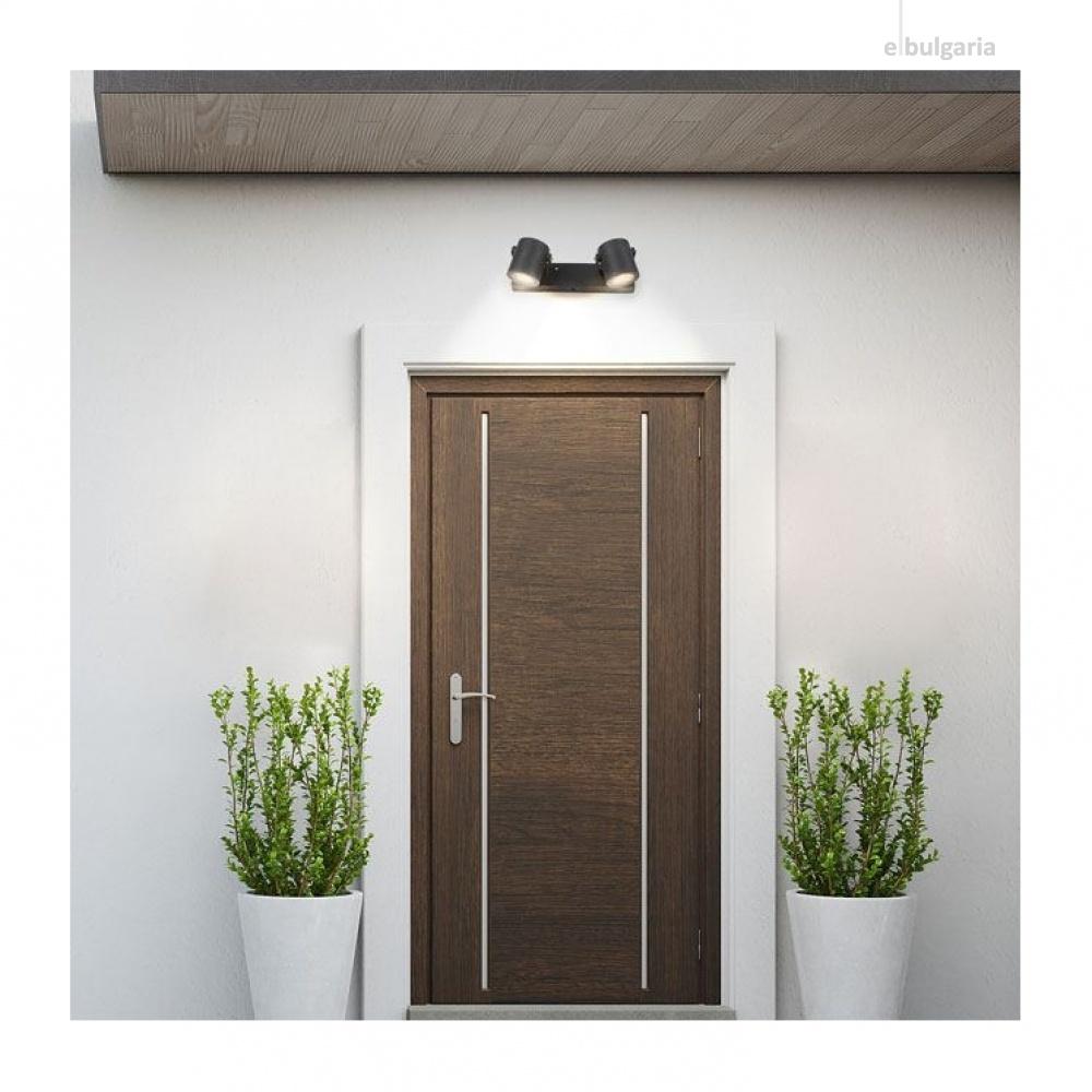 градински аплик elva, anthracite/transparent, rabalux, 2xGU10, 7930