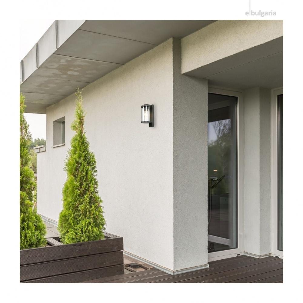 градински аплик silistra, anthracite/transparent, rabalux, 1xE27, 7891