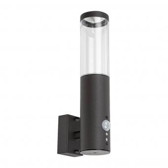 градински аплик katowice, anthracite/transparent, rabalux, 1xGU10, sensor, 1-8m, 90°, 7915