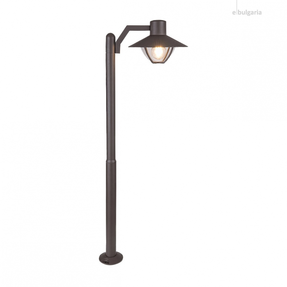 градински стълб almada, brown/transparent, rabalux, 1xE27, 7886
