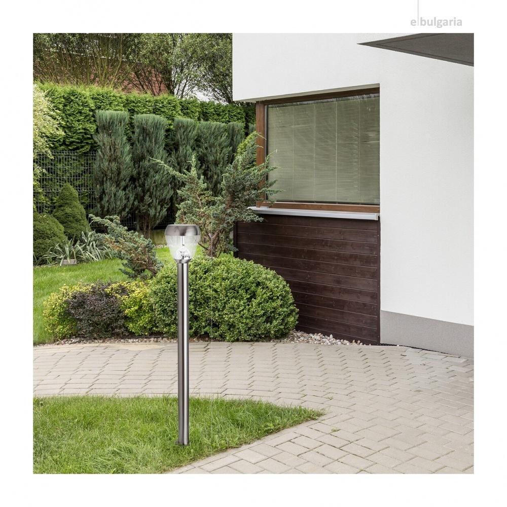 градински стълб amalfi, satin chrome/transparent, rabalux, led 8w, 4000k, 760lm, 7921