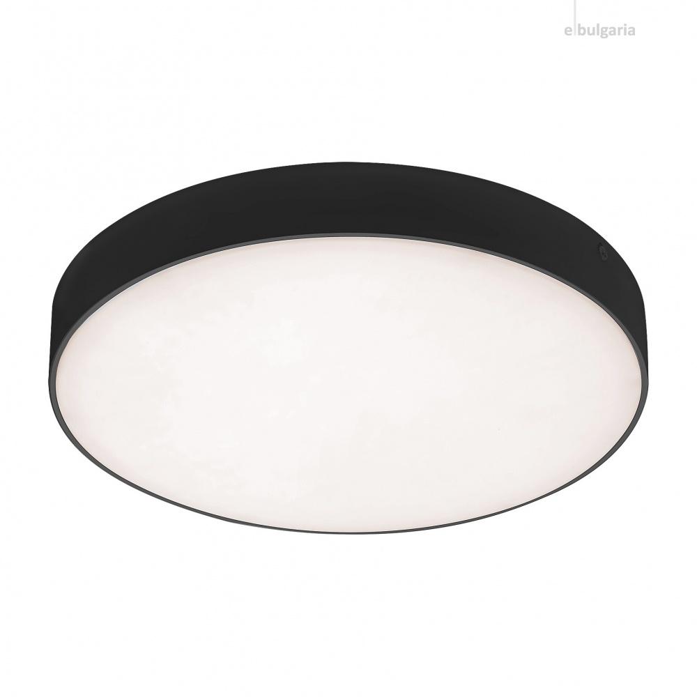 градински плафон tartu, matt black/white, rabalux, led 18w, 2800k-4000k-6000k, 1800lm, 7897