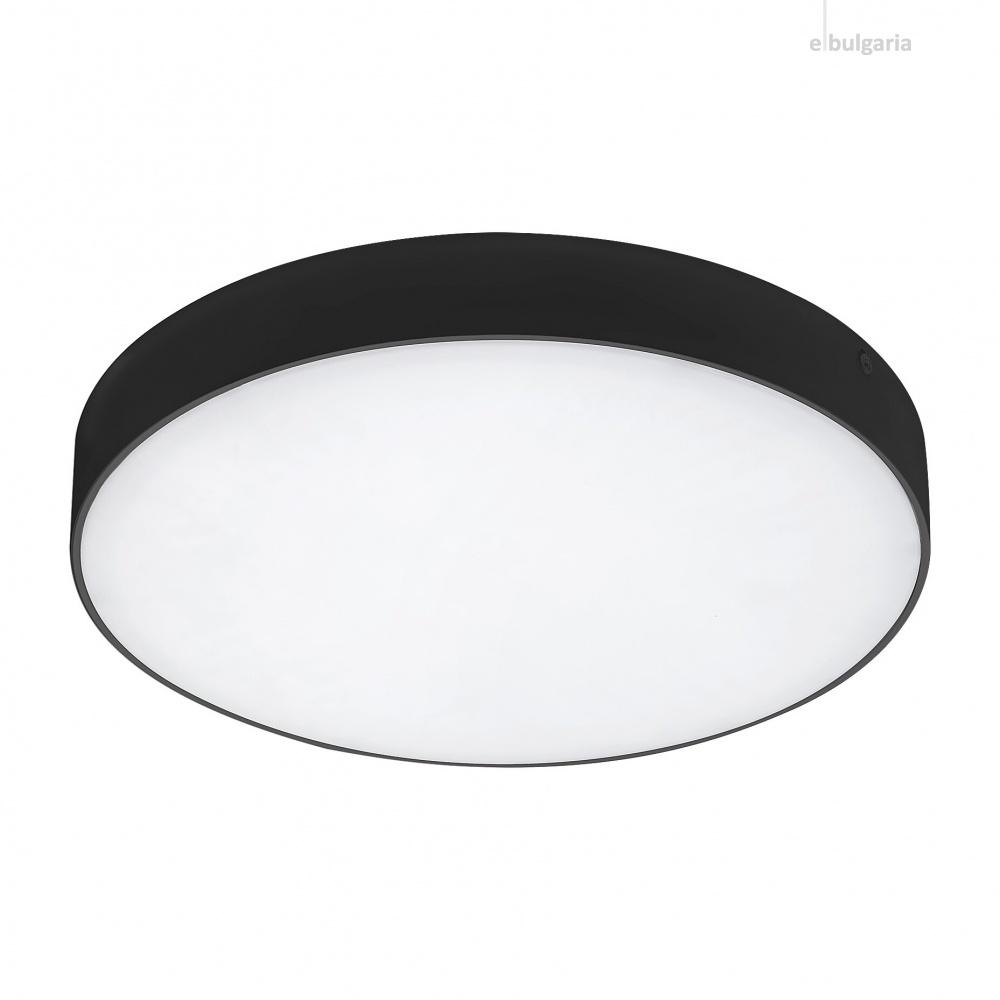 градински плафон tartu, matt black/white, rabalux, led 24w, 2800k-4000k-6000k, 2500lm, 7898