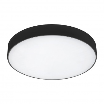 градински плафон tartu, matt black/white, rabalux, led 24w, 2800k-4000k-6000k, 2500lm, 7898