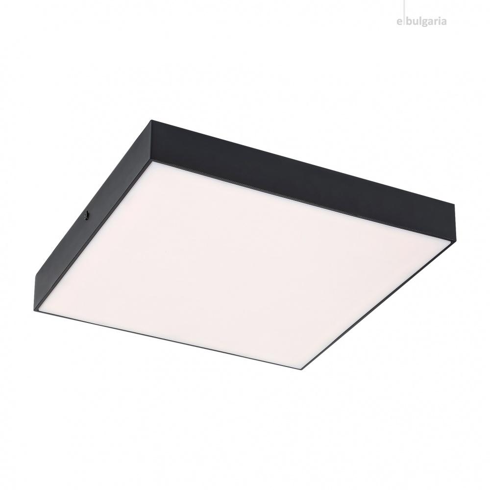 градински плафон tartu, matt black/white, rabalux, led 18w, 2800k-4000k-6000k, 1800lm, 7899