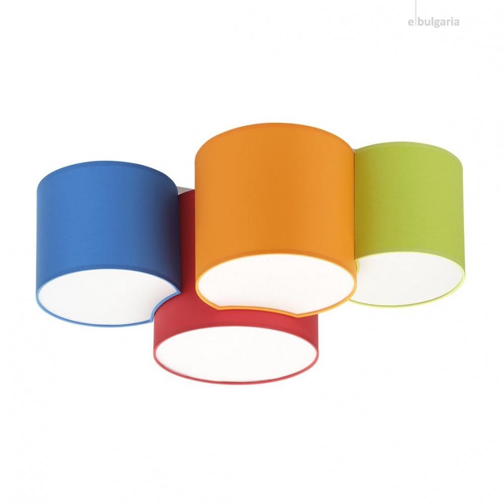 плафон mona kids, multicolour, tk lighting, 4xE27, 3276