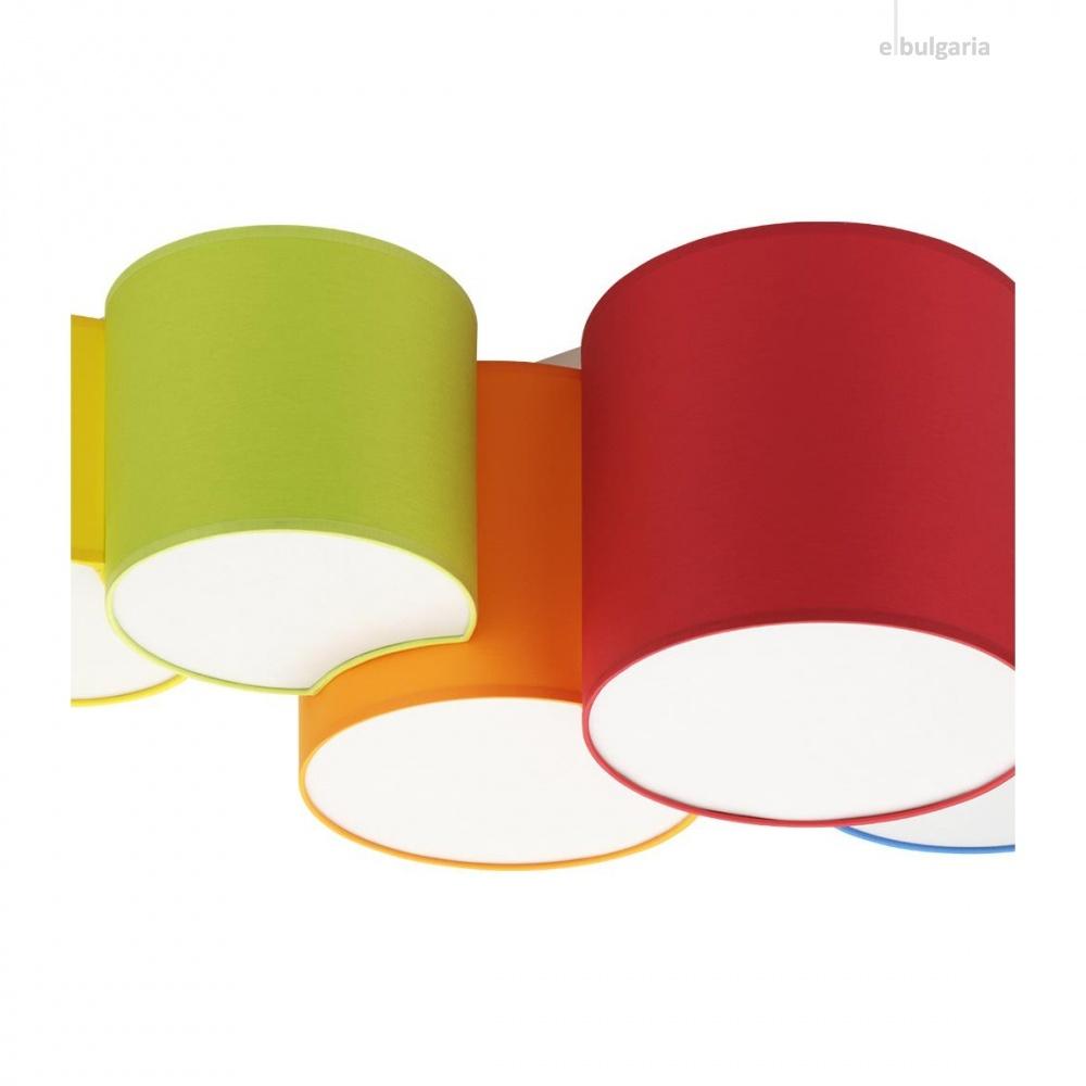 плафон mona kids, multicolour, tk lighting, 5xE27, 3277